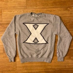 Champion Xavier Unisex Crewneck Sweater Size Small Big East Conference